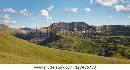 Hiking the Colorado Trail, Rocky Mountains, Colorado. - stock photo