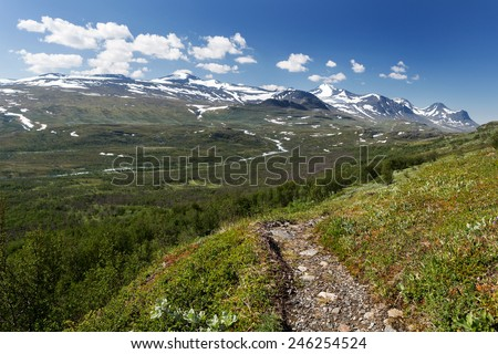 Hiking Trail in Sweden  - stock photo