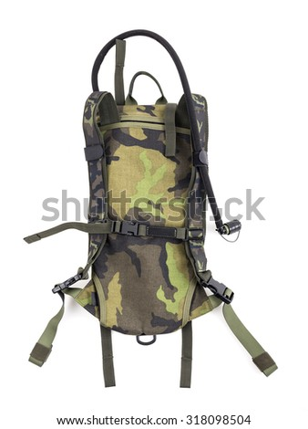 hiking  Water Bag Backpack for runners with a bag of water. - stock photo
