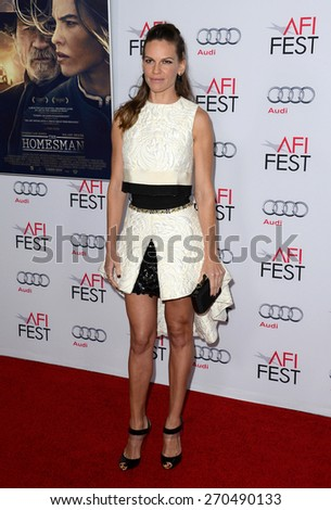 Hilary Swank at the AFI FEST 2014 Gala Premiere of 'The Homesman' held at the Dolby Theatre in Los Angeles on November 11, 2014 in Los Angeles, California.
