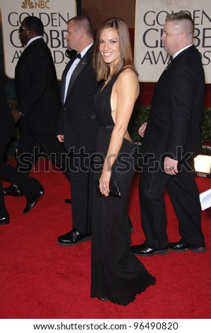 HILARY SWANK at the 63rd Annual Golden Globe Awards at the Beverly Hilton Hotel. January 16, 2006  Beverly Hills, CA  2006 Paul Smith / Featureflash