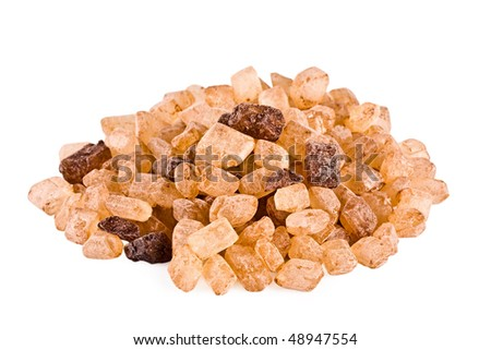 Hill of the brown sugar, isolated on a white background