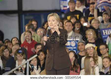 Hillary Clinton Rally for Predential Campaign