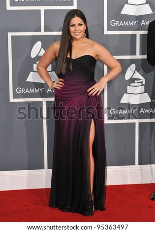 Hillary Scott of Lady Antebellum at the 54th Annual Grammy Awards at the Staples Centre, Los Angeles. February 12, 2012  Los Angeles, CA Picture: Paul Smith / Featureflash