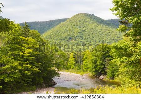Hills and rivers in Cape Breton. Nova Scotia - stock photo