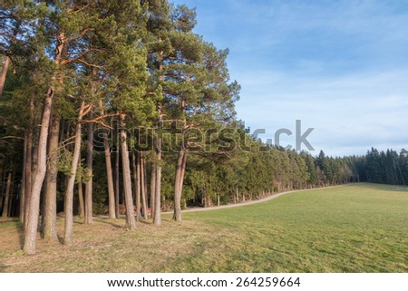 Hills and slopes at the edge of the beautiful Black Forest, Germany - stock photo