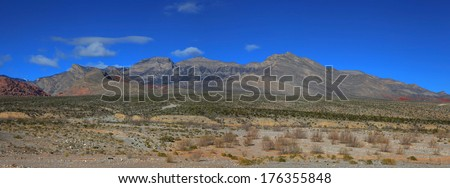 Hills in the middle of Red rock canyon national recreation area. - stock photo