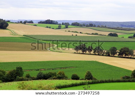 Hilly countryside  - stock photo