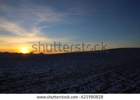Hilly landscape at sunrise so beautiful