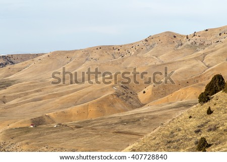 hilly mountain in the desert in Kazakhstan