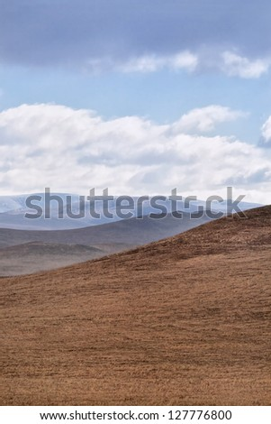 Hilly red steppes in Autumn, Inner Mongolia, China