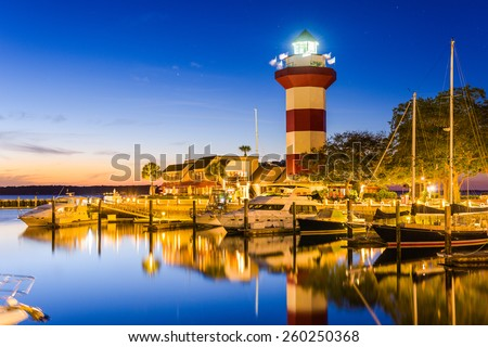 Hilton Head, South Carolina, USA at the Lighthouse. - stock photo
