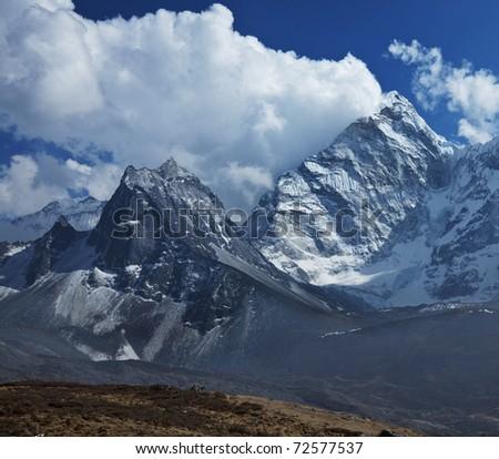 Himalaya in Nepal - stock photo