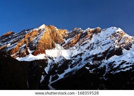 Himalaya Mountain landscape in Ladakh, North India - stock photo