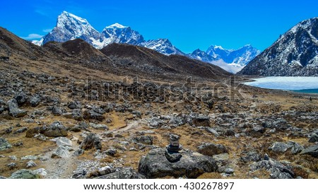 Himalayan mountains, around the Gokyo Lakes, Nepal