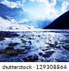 Himalayan mountains,Nepal - stock photo
