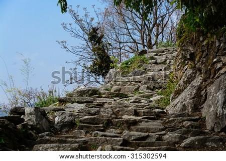 Himalayan Steps - stock photo