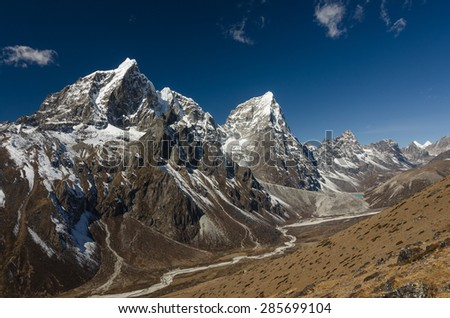 Himalayan vista - stock photo