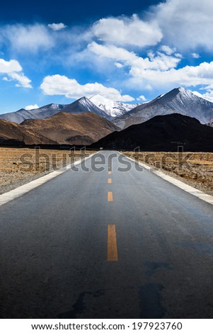 himalayas mountain in summer time, way to everest base camp - stock photo