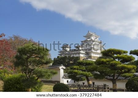 himeji castle unesco kansai kobe japan - stock photo