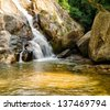 Hin Lad Waterfall. Koh Samui, Thailand. - stock photo