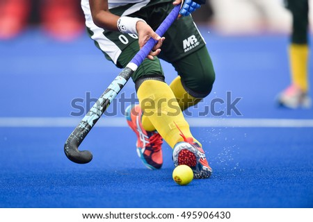Hina Kanwal of Pakistan in action during The 4th Women's AHF Cup 2016 between Hong Kong and Pakistan at Queen Sirikit Sports Stadium on October 03,2016 in Pathum Thani Thailand