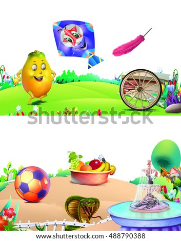 Seamless Pattern Kids On Inflatable Rings Stock Vector 134695982 Shutterstock