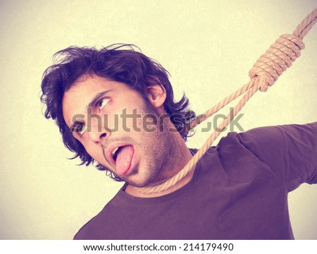 Hindu cool young hangman - stock photo