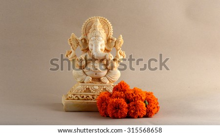 Hindu God Ganesha. Ganesha Idol.  - stock photo