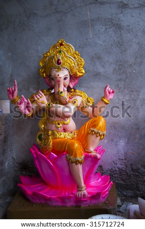 Hindu god Lord Ganesha - stock photo