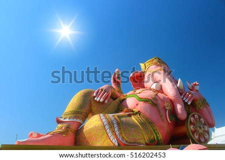 hindu god on sunlight with blue sky background