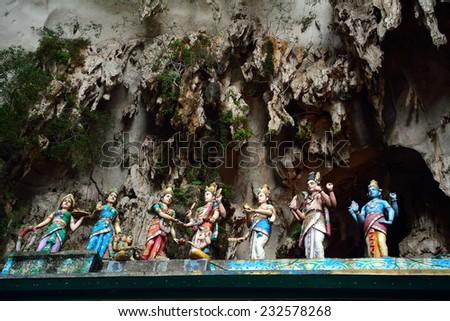 Hindu temple, Batu Caves, Malaysia - stock photo