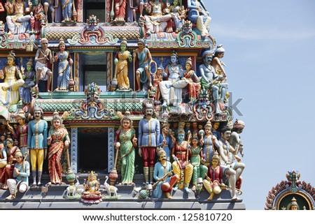 Hindu temple in Singapore - stock photo