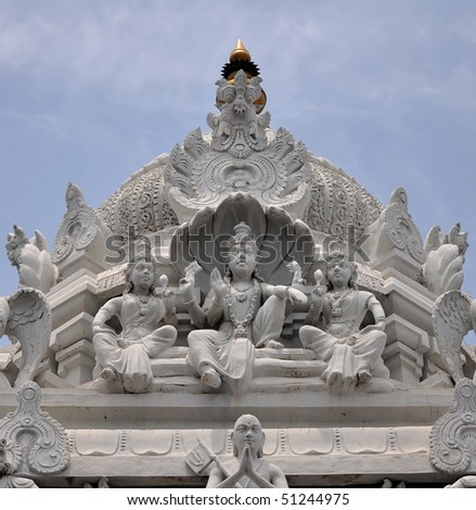 Hindu temple statues - stock photo
