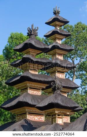 Hindu temple, Ubud, Bali, Indonesia - stock photo