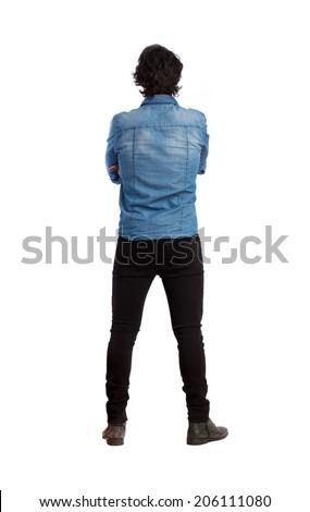 Hindu young man back - stock photo