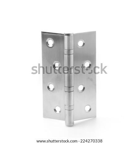 hinge isolated on white background - stock photo