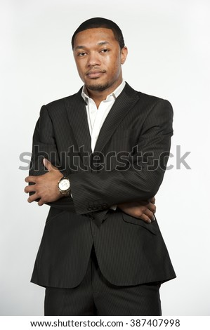 Hip and Trendy Formal Black Male - stock photo