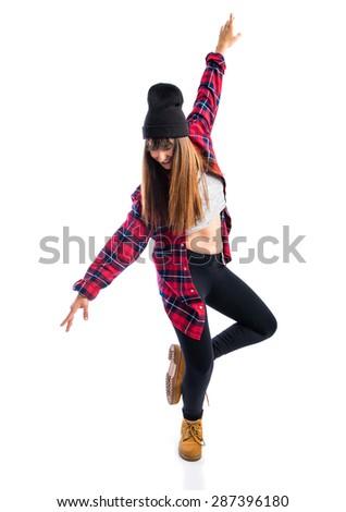 Hip hop dancer  - stock photo