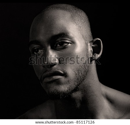 Hip muscular black man