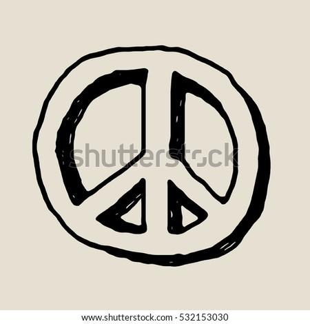 Hippie Peace Symbol Stock Illustration 532153030 Shutterstock