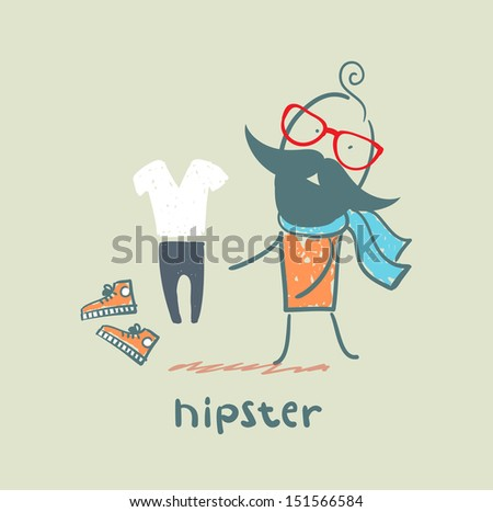 hipster - stock photo