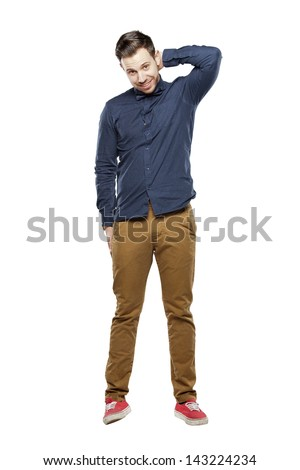 Hipster man in bow tie looking stylish - stock photo