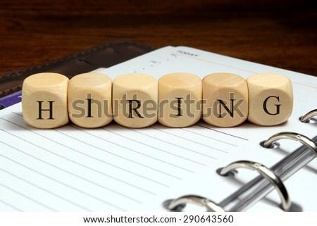 HIRING word concept - stock photo
