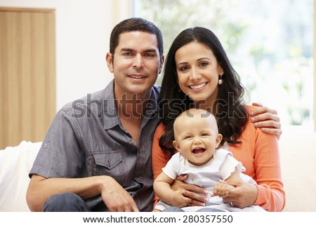 Hispanic Couples Pictures Hispanic Couple at Home With