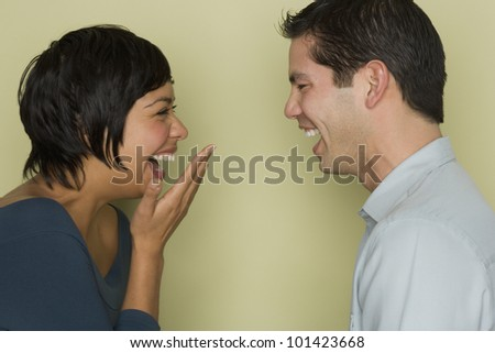 Hispanic Couples Pictures Hispanic Couple Laughing at