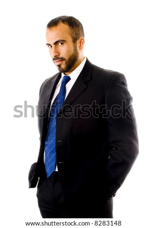 Hispanic Man in a Suit