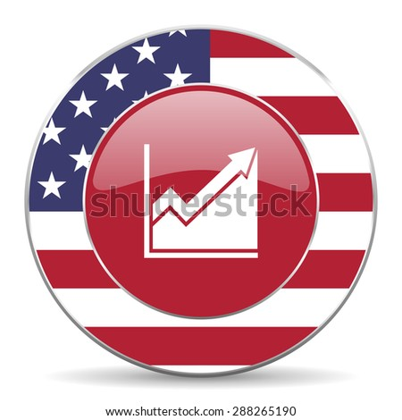 histogram american icon original modern design for web and mobile app on white background  - stock photo