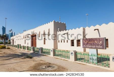 Historic Al-Shamiya Gate in Kuwait City, Middle East - stock photo