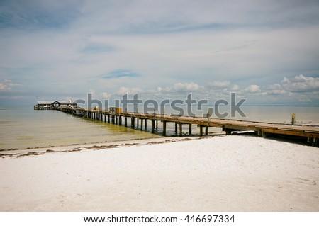 Historic Anna Maria City Pier on Anna Maria Island, Florida - stock photo